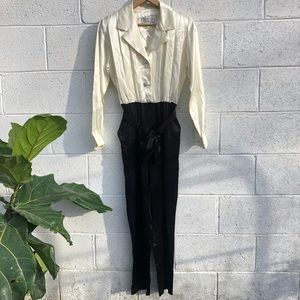 Vintage • Silky Business Jumpsuit